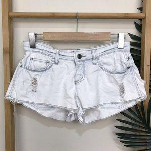 Tigerlily Light Blue Bleached Denim Shorts 6